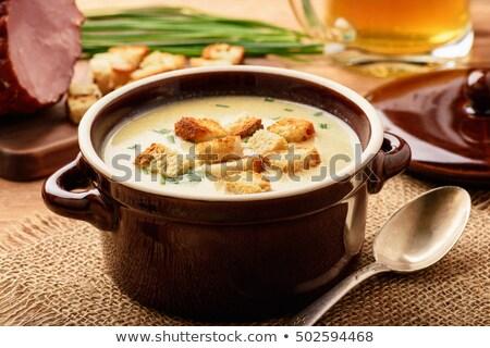 Сток-фото: суп · сыра · ветчиной · куриные · чеснока