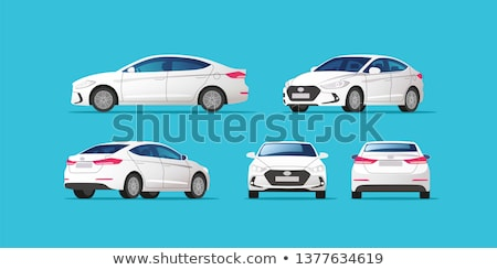 Beyaz sedan araba vektör yalıtılmış dizayn Stok fotoğraf © Ava