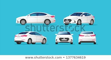 White Sedan Car. Vector stock photo © Ava