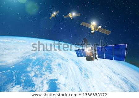 Gruppo sfondo terra spazio satellite grafica Foto d'archivio © bluering