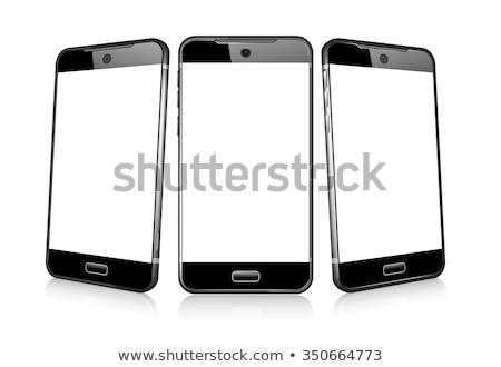 Stockfoto: Drie · telefoon · cel · smart · mobiele · 3D