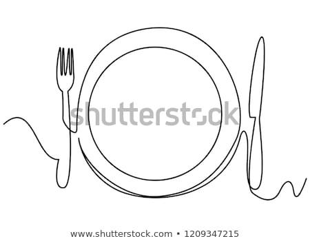 Creative word on plate Stock photo © fuzzbones0