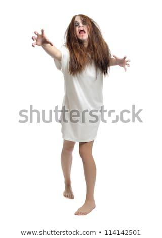 Jovem zumbi menina ilustração branco fundo Foto stock © bluering