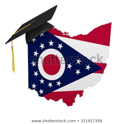 Ohio harita ABD Amerika Birleşik Devletleri Amerika bayrak Stok fotoğraf © iqoncept