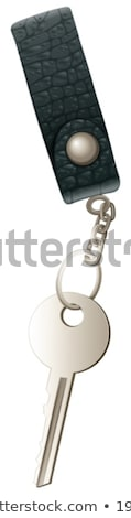 A topview of a key with a keychain Stock photo © bluering