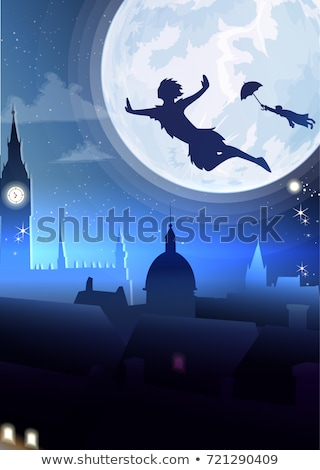 A bright fullmoon in the city Stock photo © bluering