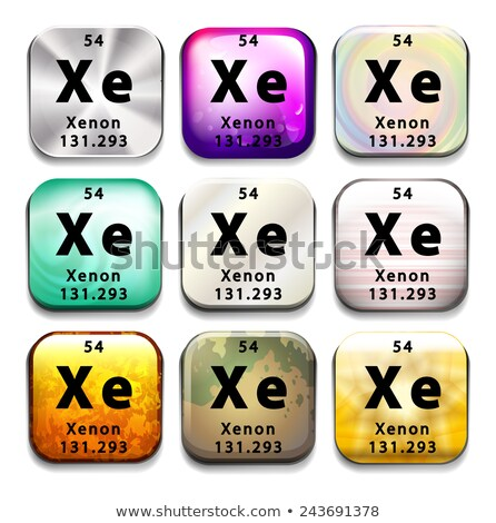 Buttons showing Xenon and its abbreviation Stock photo © bluering