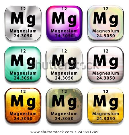 Knoppen tonen magnesium afkorting witte onderwijs Stockfoto © bluering