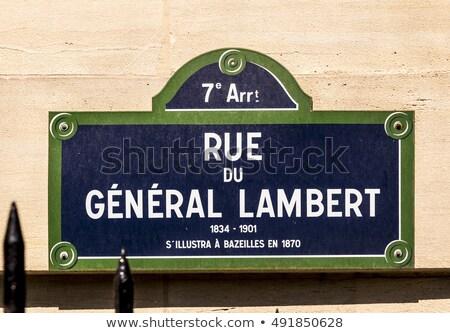 Genel eski sokak işareti Paris Bina şehir Stok fotoğraf © meinzahn