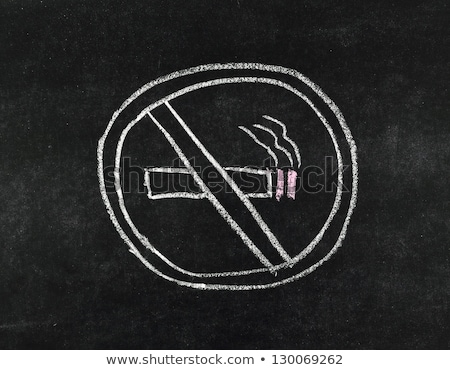 no smoking sign with text and picture stock photo © bluering