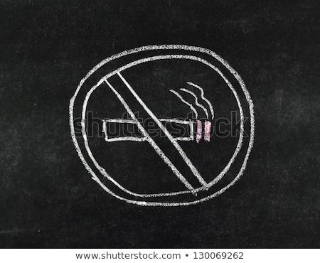 Dohányozni tilos felirat szöveg kép illusztráció háttér Stock fotó © bluering