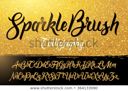 Sparkling letters of the alphabet Stock photo © bluering