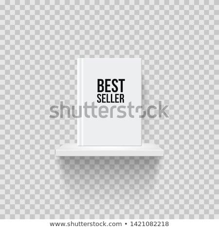 Vacío blanco estante para libros gradiente 3d resumen Foto stock © cherezoff