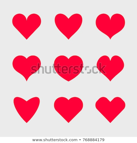 Collection of color icons in heart shape Stock photo © Vanzyst