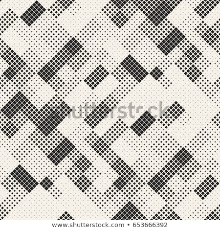 Vector Seamless Black And White Halftone Gradient Rectangles Pattern Stock photo © CreatorsClub