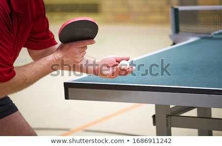 настольный теннис белый мяча спорт фитнес Сток-фото © dolgachov