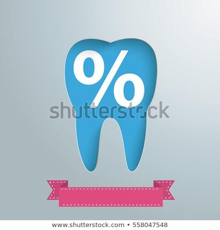Gümüş diş delik yüzde eps 10 Stok fotoğraf © limbi007
