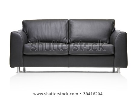 Fabulous Image Of A Modern Black Leather Sofa Over White Background Gamerscity Chair Design For Home Gamerscityorg