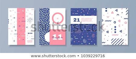 Stock photo: geometrical memphis style background