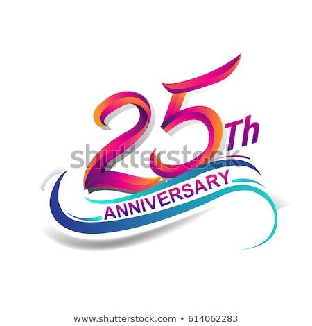 Stok fotoğraf: 25th Anniversary Celebration Card Template