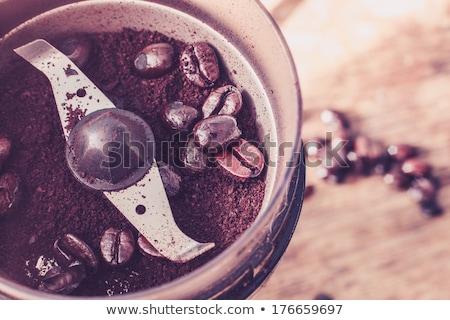 кофе мельница бобов эспрессо старые кофе Сток-фото © andreasberheide