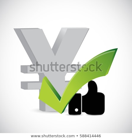 yen currency like and approval sign concept stock photo © alexmillos