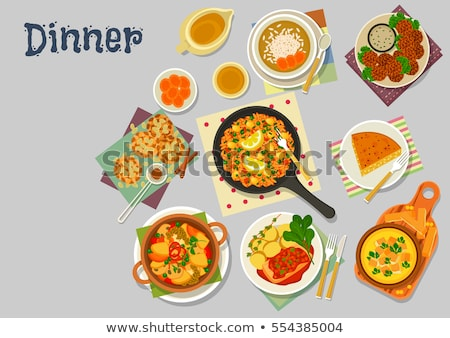 room · diner · plaat · decoratief · rand · schone - stockfoto © Digifoodstock