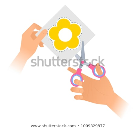 Child holding scissors Stock photo © ia_64