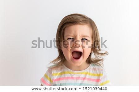 bebek · şişe · emzik · kız · süt · yalıtılmış - stok fotoğraf © adrenalina