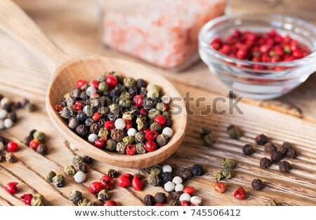 baharat · kepçe · karışık · biber · gıda · mutfak - stok fotoğraf © deandrobot