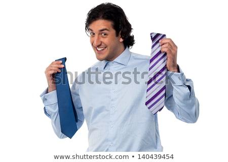 Businessman Choosing A Tie ストックフォト © stockyimages