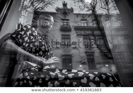 Shopping mall boutique mannequin, male figure portrait Stock photo © stevanovicigor
