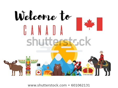 vector flat style set of canadian national cultural symbols stock photo © curiosity