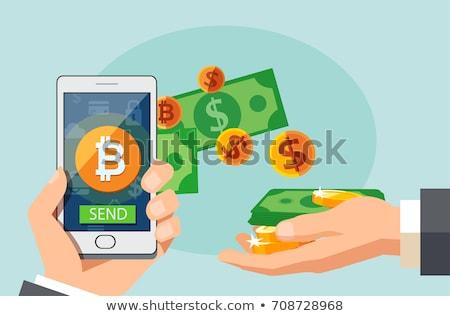 bitcoin exchange with dollar symbol design Stock photo © SArts