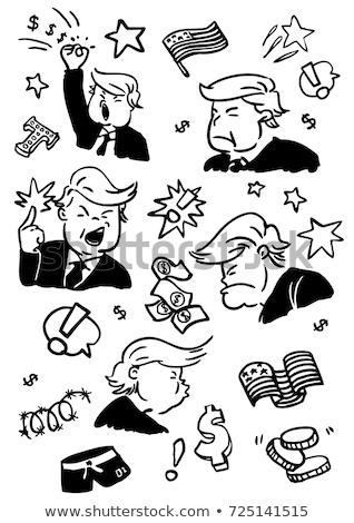 Caricatura democratico presidenziale candidato stelle ritratto Foto d'archivio © ayaxmr
