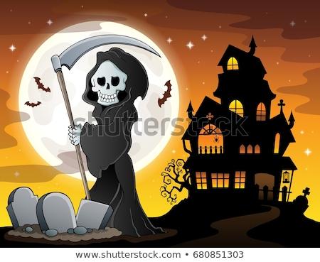 halloween · horrível · lua · morto · desenho · animado - foto stock © clairev