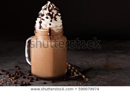ストックフォト: ドリンク · ホイップクリーム · 冷たい · チョコレート