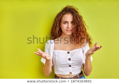 Beautiful female emotional reaction misunderstanding Stock photo © studiostoks