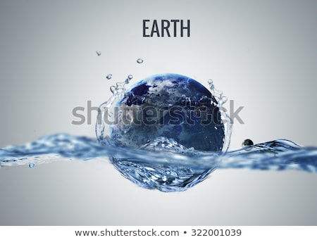 planet in water   neptune science fiction art stock photo © nasa_images