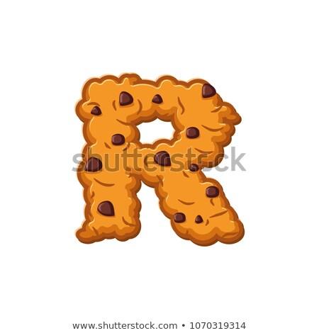 Schreiben Cookies Cookie Schriftart Haferflocken Keks Stock foto © popaukropa