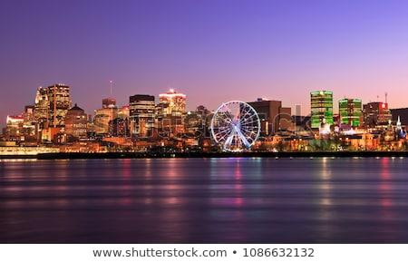 Panorama Montreal zonsondergang Quebec Canada hemel Stockfoto © benkrut