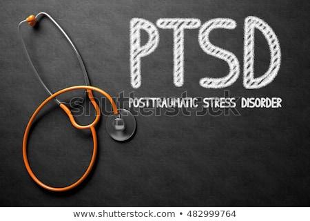 PTSD on Chalkboard. 3D Illustration. Stock photo © tashatuvango