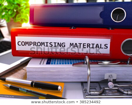 Materiały czerwony biuro folderze obraz pracy Zdjęcia stock © tashatuvango