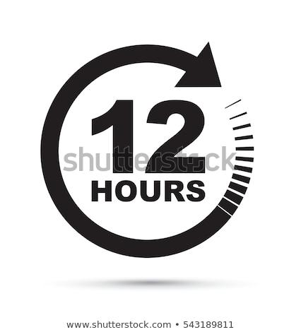 12 uur werkweek werk vorm werken Stockfoto © Olena