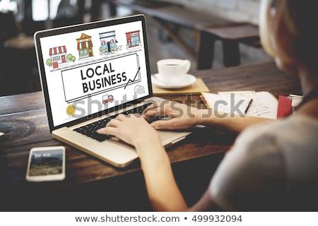 Local negocios comercialización altavoz bocadillo Foto stock © tashatuvango