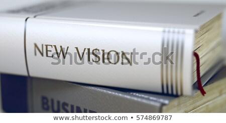 ビジョン 図書 タイトル 背骨 3D クローズアップ ストックフォト © tashatuvango