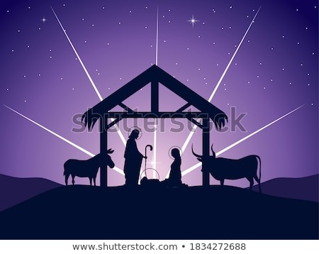 nativity christmas illustration mary and joseph stock photo © krisdog