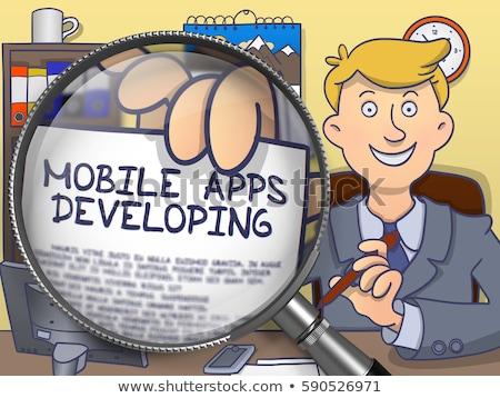 программное развития объектив болван дизайна служба Сток-фото © tashatuvango