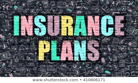 Multicolor Business Insurance on Dark Brickwall. Doodle Style. Stock photo © tashatuvango