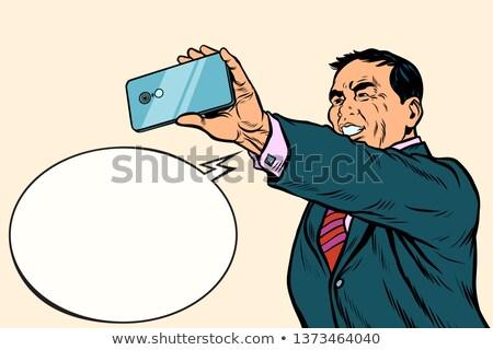 japans · man · smartphone · hand · taak · papierwerk - stockfoto © studiostoks
